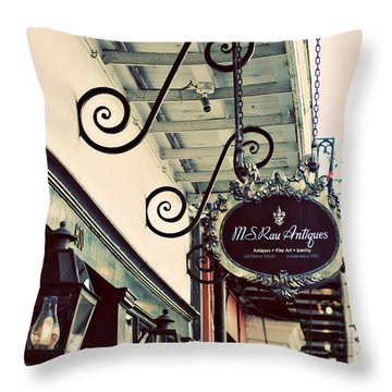 Throw Pillow featuring the photograph Antique Row by Heather Green