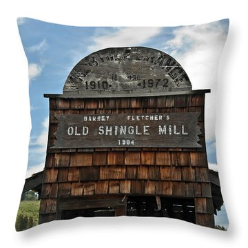 Antique Shingle Mill Throw Pillow