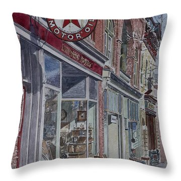 Antique Shop Beacon New York Throw Pillow by Anthony Butera