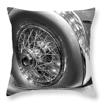 Throw Pillow featuring the photograph Antique Spare Tire by Cheryl Del Toro