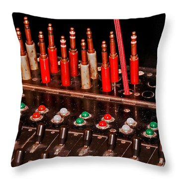 Antique Telephone Switchboard Throw Pillow