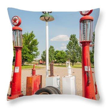 Antique Texaco Pumps Throw Pillow