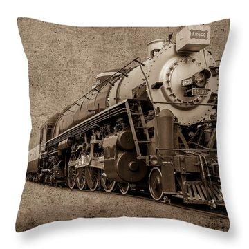 Antique Train Throw Pillow by Doug Long