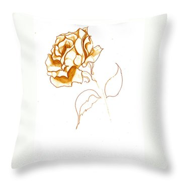 Antiqued Bloom Throw Pillow
