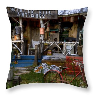 Throw Pillow featuring the photograph Antiques by Alana Ranney