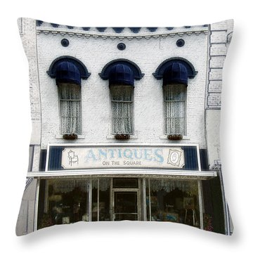 Antiques On The Square Throw Pillow