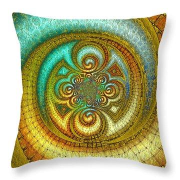 Antiquity's Gold 1 Throw Pillow