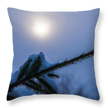 Antisipation Of New Year Throw Pillow by Alexander Senin