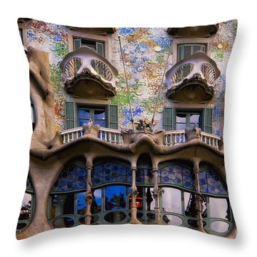 Antoni Gaudi Throw Pillows