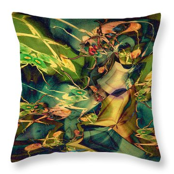 Antsy Congregation Throw Pillow