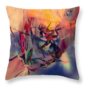 Antsy Dance Throw Pillow