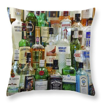 Anyone For A Drink Throw Pillow by Maj Seda