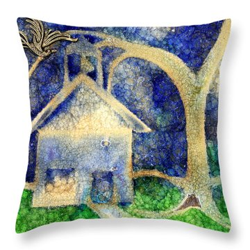 Anyone Lived In A Pretty How Town Throw Pillow