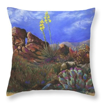 Anza Borrego April Throw Pillow