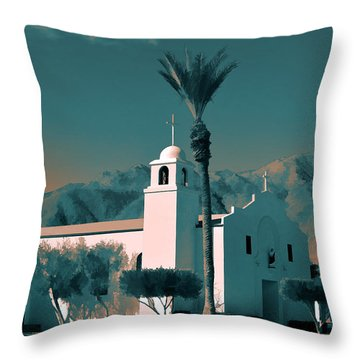 Anza Borrego Desert Church Throw Pillow