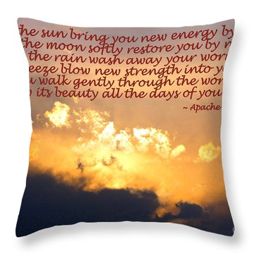 Apache Blessing  Throw Pillow