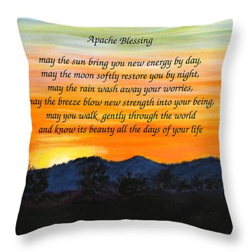 Apache Blessing-sunrise Throw Pillow