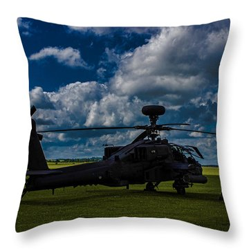Apache Gun Ship Throw Pillow