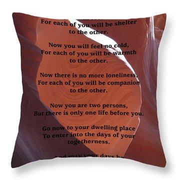 Apache Wedding Blessing On Canyon Photo Throw Pillow