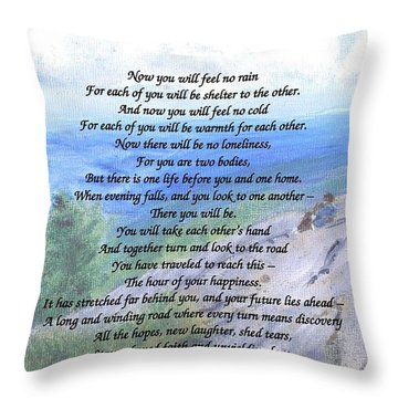 Apache Wedding Prayer Throw Pillow