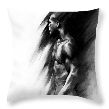Throw Pillow featuring the drawing Apart by Paul Davenport