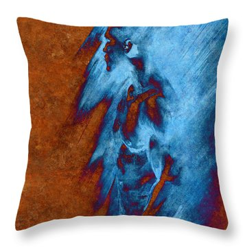 Throw Pillow featuring the drawing Apart With Mood Texture by Paul Davenport