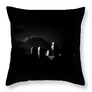 Throw Pillow featuring the photograph Apartment Buildings At Sunset From The Pape St Bridge by Brian Carson