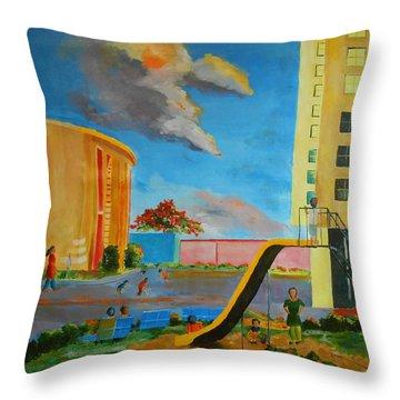 Apartment Living Throw Pillow