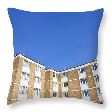 Apartments Throw Pillow by Tom Gowanlock