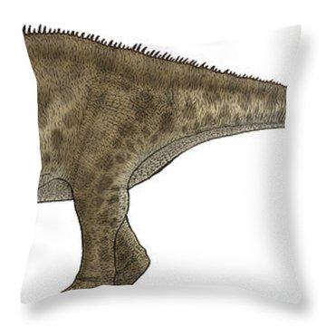Apatosaurus, A Sauropod Dinosaur Throw Pillow by Vitor Silva