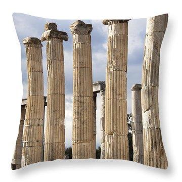 Aphrodisias Columns Throw Pillow