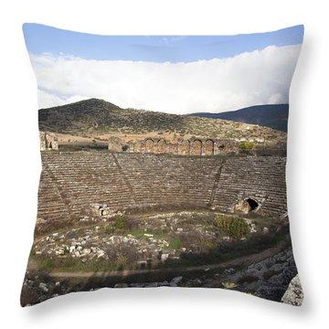 Aphrodisias Stadium Throw Pillow