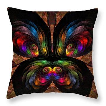 Apo Butterfly Throw Pillow by GJ Blackman