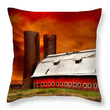 Apocalypse At Rolling Fork Throw Pillow