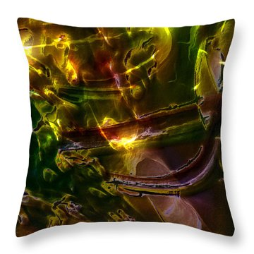 Throw Pillow featuring the digital art Apocryphal - Tilting From Beastback by Richard Thomas