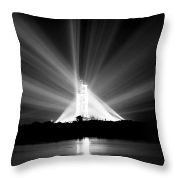 Apollo 11 In The Spotlight Throw Pillow by Travis Burgess