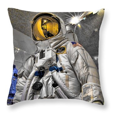 Apollo 11 Space Suit Throw Pillow
