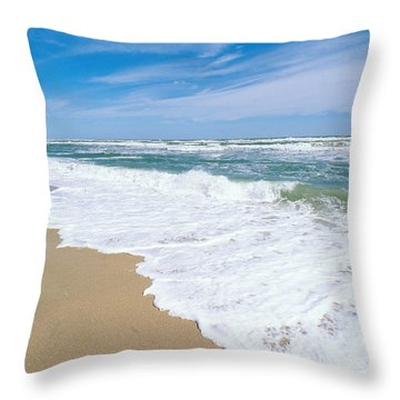 Apollo Beach Throw Pillow by Millard H. Sharp
