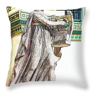 Apollo Citharoedus  Throw Pillow by Lorna Rogers Photography