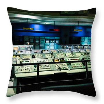 Apollo Mission Control Throw Pillow