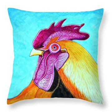 Throw Pillow featuring the painting Apollo The Messenger by Joseph J Stevens