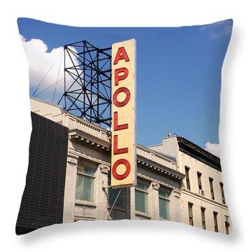 Apollo Theater Throw Pillow by Martin Jones