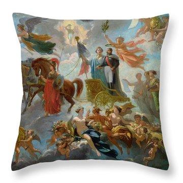 Apotheosis Of Napoleon IIi Throw Pillow by Guillaume-Alphonse Harang Cabasson