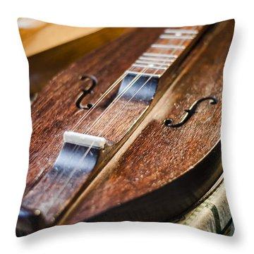 Appalachian Dulcimer Throw Pillow