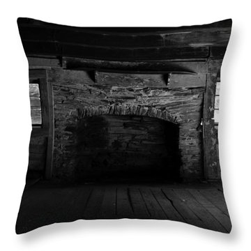 Appalachian Fireplace Throw Pillow by David Lee Thompson
