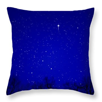Appalachian Mountain Starry Night Throw Pillow by Thomas R Fletcher