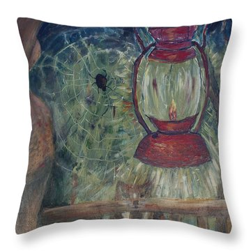 Throw Pillow featuring the painting Appalachian Nights  by Avonelle Kelsey