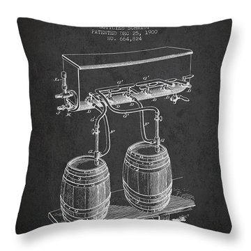 Apparatus For Beer Patent From 1900 - Dark Throw Pillow