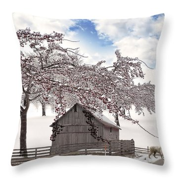 Apparition Throw Pillow by Liane Wright