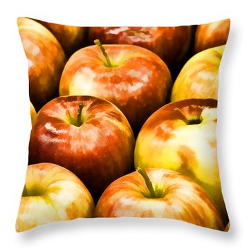 Throw Pillow featuring the photograph Apple A Day by Linda Blair